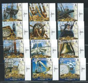 Pitcairn Island 652-63 HMS Bounty 2007 set MNH