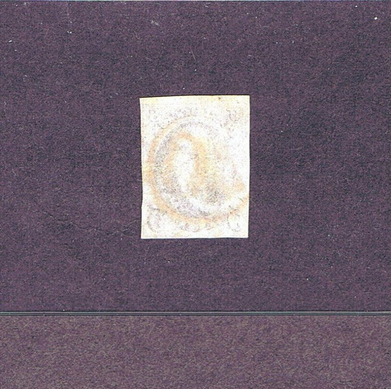 SC# 1 USED 5 CENT, FRANKLIN, 1847, RED NUMERAL 40 IN CIRCLE CANCEL, 2019 PF CERT