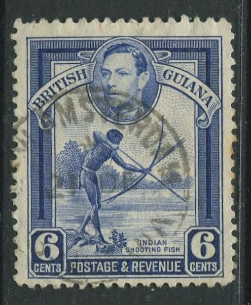 British Guiana - Scott 233 - KGVI- Definitive -1938 - FU - Single 6c Stamp