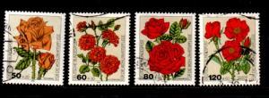 Germany Sc B600-3 1982 Flower Roses stamp set used