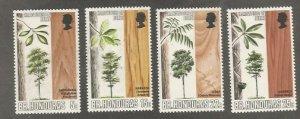 British Honduras MNH 259-62 Hardwood Trees 1970