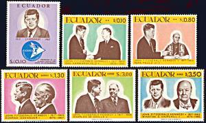 Ecuador 764-764E, MNH, 50th Birthday of John F. Kennedy
