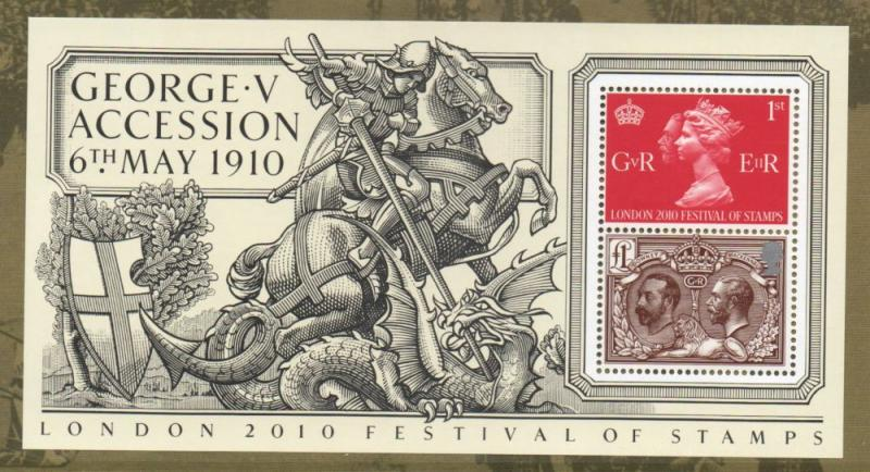 Great Britain Sc 2792a 2010 100th Anniversary G V stamp sheet mint NH