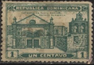 Dominican Republic 260 (u filler) 1c Santo Domingo Cathedral, dp grn (1931