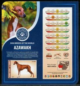 SIERRA  LEONE  2019 DOG BREEDS OF THE WORLD-- AZAWAKH  SOUVENIR SHEET MINT NH