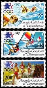 New Caledonia 1984 Scott #C197-C199 Mint Never Hinged
