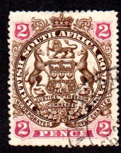 BRITISH S. AFRICA 52 USED SCV $4.50 BIN $1.80 COAT OF ARMS