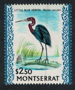Montserrat Little Blue Heron Bird $2.50 Glazed Ordinary paper 1971 MNH SG#253a