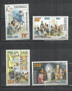 SENEGAL 1985 - CHRISTMAS  - CPL. SET - MNH MINT (1 USED)