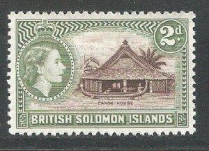 Solomon Islands 1956,Queen Elizabeth-II, Scott # 92,VF MLH* (SL-1)