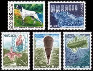 Monaco Scott 1431, 1432, 1433-1434, 1435 (1984) Mint NH VF