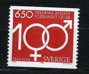 J23090 JLstamps 1984 sweden hv of set mnh #1507 womans right