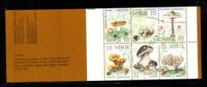 Sweden Sc 1264a 1978 Edible Mushrooms stamp booklet mint NH