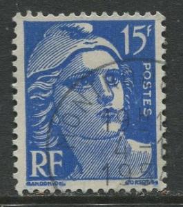 France - Scott 653 - General Definitive Issue -1951 - Used -15fr Stamp