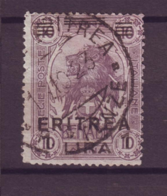 J21224 Jlstamps 1922 eritrea used #64 lion ovpt