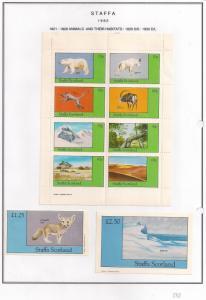 SCOTLAND - STAFFA - 1982 - Animals & Their Habitat-Perf 8v, Souv, D/L Sheets-MLH