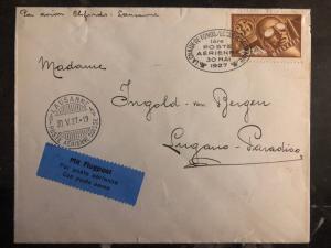 1927 Chaux de Fonds Switzerland First Flight Cover FFC  to Lucerne # C6