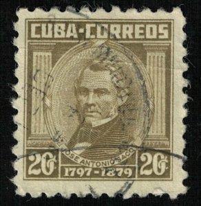 Jose Antonio Saco., 20 cents, Cuba (Т-6117)
