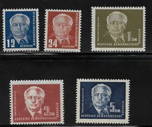 Germany DDR - Scott #54-57A - VF - Mint Never Hinged (NH)