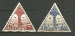 1943 Cote Francaise de Somalis 260-61* 50 years of the French territory of Somal