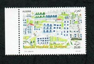 2016  - Algeria - World Autism Awareness Day - Child painting -Stamp MNH**