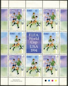 IRELAND Sc#927-928 1994 World Cup Soccer M/S of Four Complete Sets Mint NH