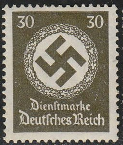Stamp Germany Official Mi 141 WWII 3rd Reich Nazi Era Emblem Nazi Era Dienst MNH