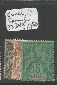 French Guiana SC 32, 34-5 MOG (3crp)