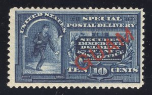 Guam# E1 10 Cents, Blue - Special Delivery - Unused - Original Gum - Cat:$150.00