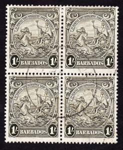 Barbados Sc #200  Block x4 Used
