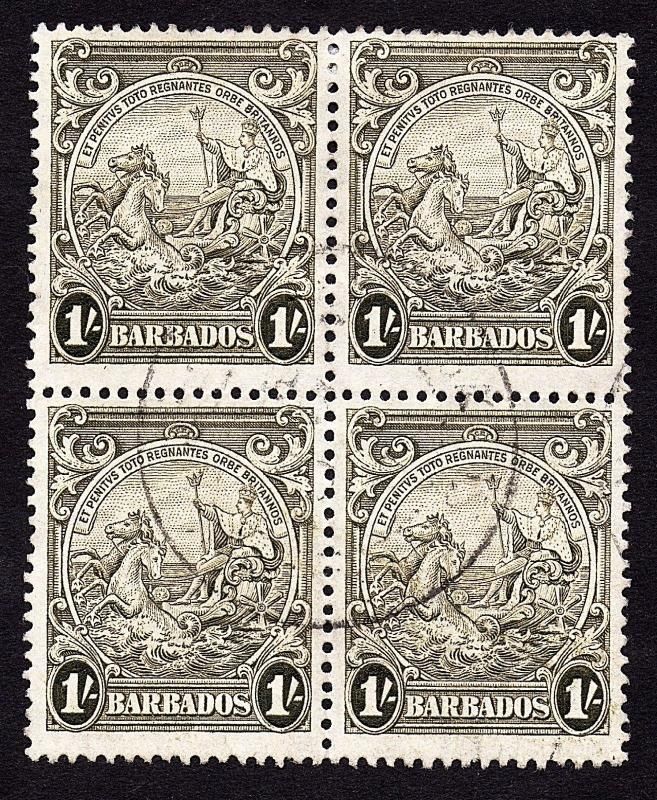 Barbados Sc #200  Block x4 Used