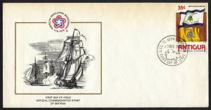 wc005 Antigua First Day Cover of U.S. Bicentennial 1976 FDC first day cover