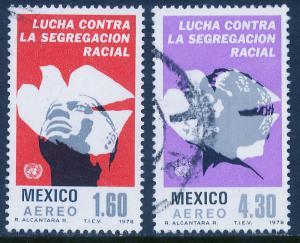 MEXICO C583-C584, Anti-Apartheid Year. Used (818)