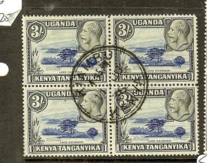 KENYA UGANDA TANGANYIKA (P1210B) KGV 3/-  SG120   BL OF 4   KIAMBU SON CDS  VFU
