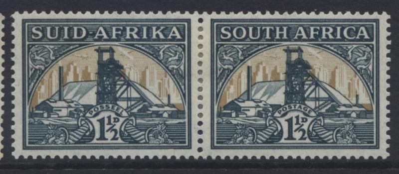 SOUTH AFRICA - Scott 52 - Gold Mine -1941- MVLH -Horiz.Pair - 1/12p Stamps