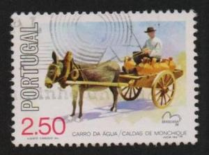 Portugal  used  1979 horse carriages   cars  2e.50  #