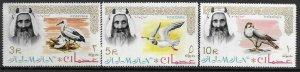 1964   AJMAN  -  SG.  16 / 18  -  BIRDS -  (53 X 34MM)   -  MNH