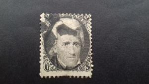 United States 1863 Andrew Jackson, 1767-1845  Used