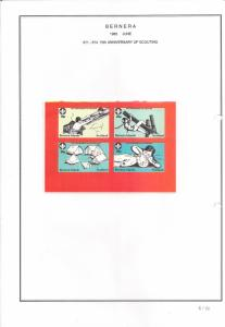 SCOTLAND - BERNERA - 1982 - Scouting - 4v Imperf Sheet - MLH