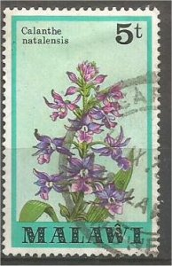 MALAWI 1979 used 5t  Orchids Scott 329
