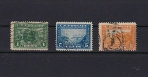 UNITED STATES 1913 PANAMA PACIFIC EXPOSITION USED STAMPS REF R 1840