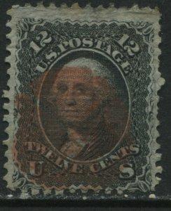 United States 1861 12 cents E Grill Washington used