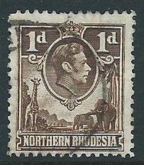 Northern Rhodesia  SG 27a  Used Chocolate