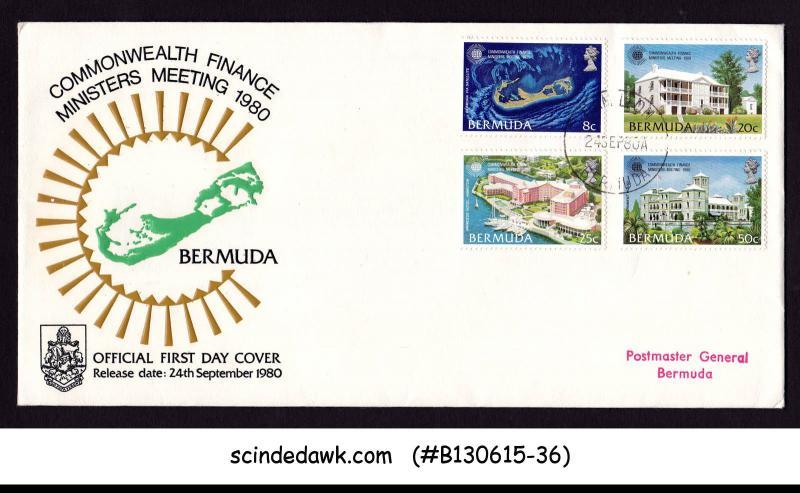 BERMUDA - 1980 COMMONWEALTH FINANCE MINISTER MEETING - 4V - FDC