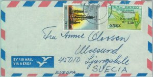 86098 - PERU - POSTAL HISTORY -  AIRMAIL  COVER to  SWEDEN  1970's Petrol