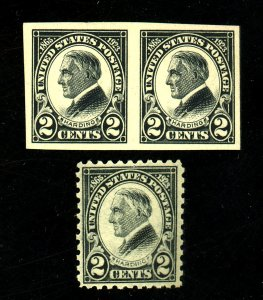 611 PAIR 612 MINT F-VF OG NH Cat $ 52.50