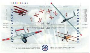 Canada - 1999 Canadian Intl. Air Show Pane mint #1807