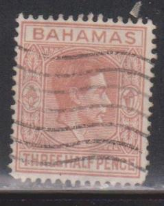 BAHAMAS Scott # 102 Used - KGVI