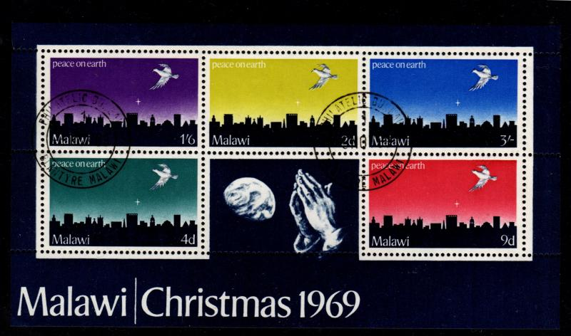 Malawi - Cancelled Souvenir Sheet Scott #126a (Christmas)
