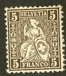 SWITZERLAND 43 MNH  SCV$3.90 BIN $2.00 WOMAN